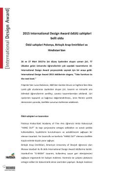 2015 International Design Award ödülü sahipleri belli oldu