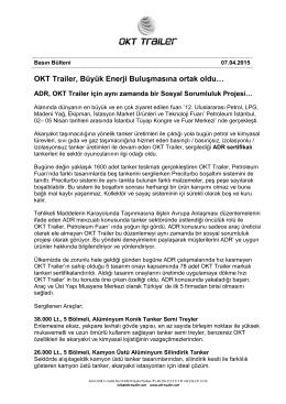 OKT Trailer, Büyük Enerji Buluşmasına ortak oldu…