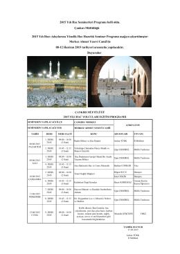 Çankırı Müftülüğü 2015 Yılı Hac Seminerleri Programı belli oldu