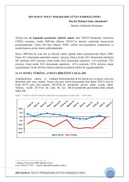2015 Şubat TEPAV Perakende Güven Endeksi