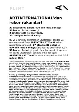 ARTINTERNATIONAL`dan rekor rakamlar! 27 ülkeden 87 galeri, 400