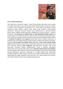 Prof. Dr. Mehmet Ziya Doymaz - Bezmiâlem Vakif Üniversitesi Tıp