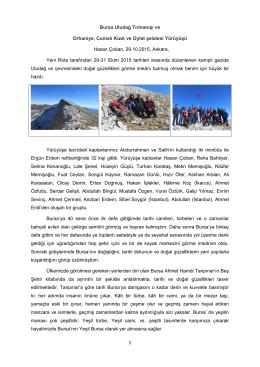 Uludağ tırmanışı - Hasan Çoban`ın İnternet Sayfası