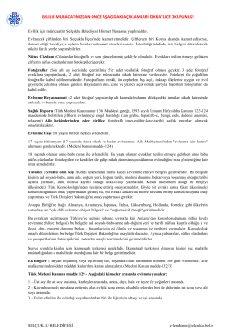 Evlilik müracaat bilgileri pdf dosyasını indirmek için tıklayınız