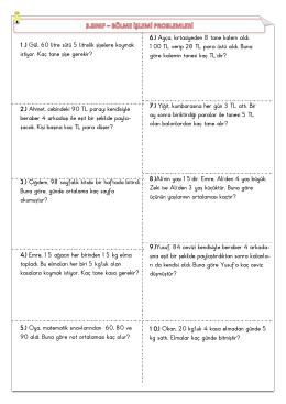 Matematik Bölme Problemleri
