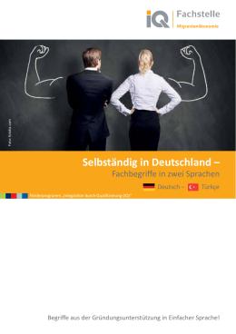 Selbständig in Deutschland – - Netzwerk Integration durch