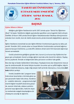 BAŞYAZI - Pamukkale Üniversitesi