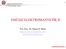 emü242 elektromanyetik ıı.