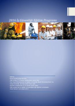 2016 İş Güvenliği Eğitim Programı