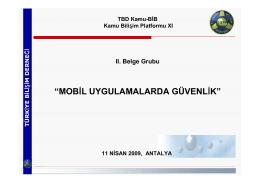 """""""MOBİL UYGULAMALARDA GÜVENLİK"""""""