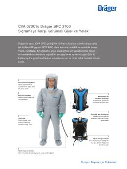 CVA 0700`lü Dräger SPC 3700 Sıçramaya Karşı Korumalı Giysi ve