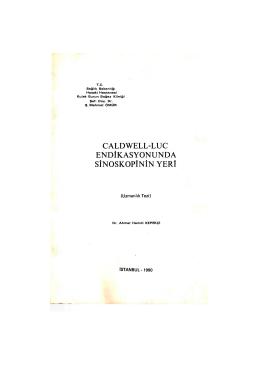 CALDWELL-LUC ENDİKASYONUNDA SİNOSKOPİNÎN YERİ