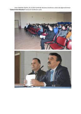 Yazar Abdullah AYATA, Ermeni Meselesi Konulu Konferans Verdi