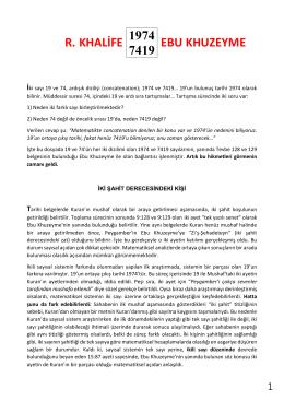 R. KHALİFE EBU KHUZEYME 1974 7419 - ikizkod 7 -19