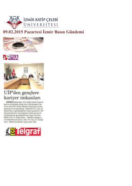 09.02.2015 Pazartesi İzmir Basın Gündemi