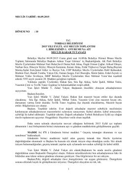 04.09.2015 tarihli meclis kararları