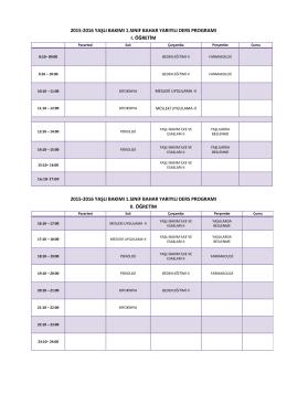 yaşlı bakımı ders programı - Sağlık Hizmetleri Meslek Yüksekokulu