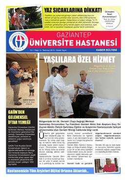 yaşlılara özel hizmet - Gaziantep Üniversitesi Hastaneleri