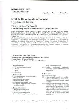 I-131 ile Hipertiroidizm Tedavisi