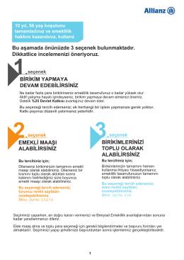 3.seçenek - Allianz Yaşam ve Emeklilik