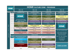 HOMECULTURE ZONE - PROGRAM