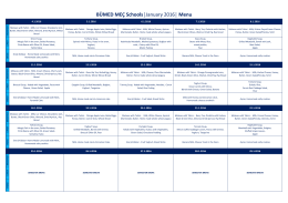 BÜMED MEÇ Schools  January 2016   Menu