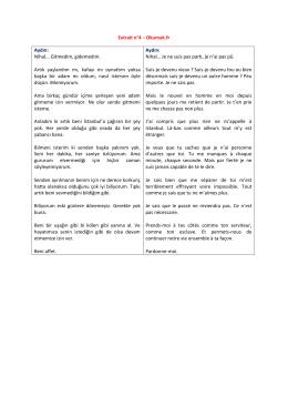 Extrait n°4 – Okumak.fr Aydın: Nihal... Gitmedim, gidemedim. Artık