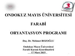2015/2016 Akademik yılı Giden Öğrenci Oryantasyon