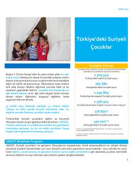 Türkiyedeki Suriyeli Çocuklar_Bilgi Notu Aralik 2015