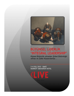 BÜTÜNSEL LİDERLİK `INTEGRAL LEADERSHIP`