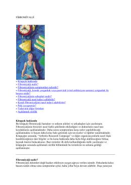 FİBROMİYALJİ » Kitapçık hakkında » Fibromiyalji nedir
