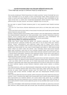 Elektrik Piyasasında Şirket Esas Sözleşme Değişikliği Zorunluluğu