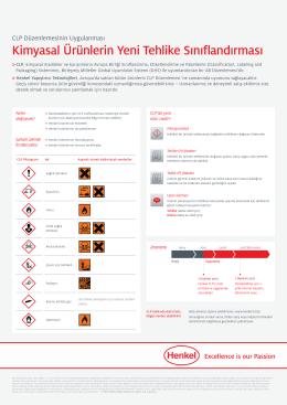 Kimyasal Ürünlerin Yeni Tehlike Sınıflandırması