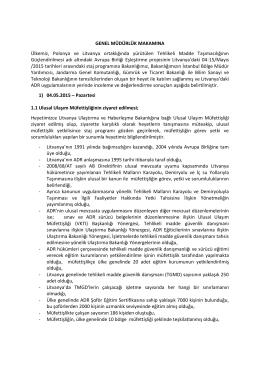 Rapor 7 - Tehlikeli Mal Taşımacılığı Konusunda Destek AB