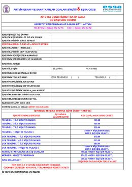 3 - 2015 yılı osgb başvuru formu