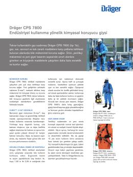 Ürün Bilgisi: Dräger CPS 7800