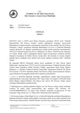 2015/6 Sayılı Genelge - Gümrük ve Ticaret Bakanlığı Risk Yönetimi