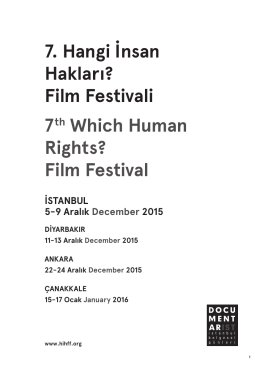 Katalog - Hangi İnsan Hakları? Film Festivali