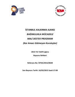 istka/2015/bgm - İstanbul Kalkınma Ajansı