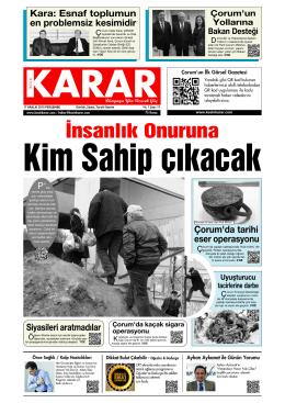 İnsanlık Onuruna - Kesin Karar Gazetesi