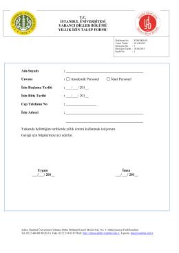 yıllık izin talep formu ekb-01