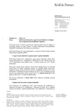 Sirküler No: 2015 / 55