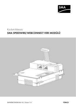 Kurulum kılavuzu - SMA SPEEDWIRE/WEBCONNECT VERI MODÜLÜ