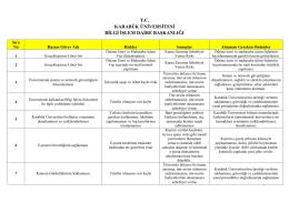 Hasas Görev Formu - Bilgi İşlem Daire Başkanlığı