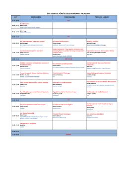 data center türkiye 2015 konferans programı