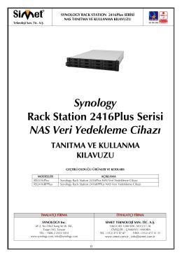 Synology Rack Station 2416Plus Serisi NAS Veri Yedekleme Cihazı