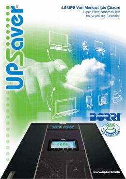 4.0 UPS Veri Merkezi için Çözüm