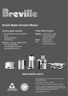 Breville ikon™ Ekmek Yapma Makinenizi Tanıyın devamı