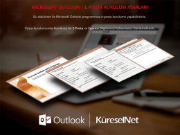 Microsoft Outlook E-Posta Kurulum Rehberi