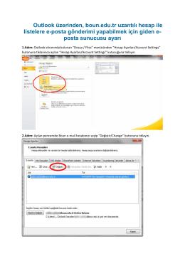 Outlook üzerinden, boun.edu.tr uzantılı hesap ile listelere e